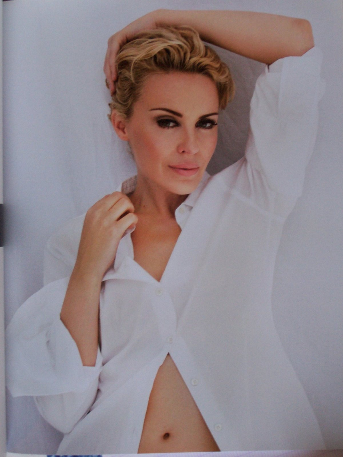 Kylie Minogue S Dirty Dance With Sharon Stone: Ladies In Satin Blouses: Kylie Minogue