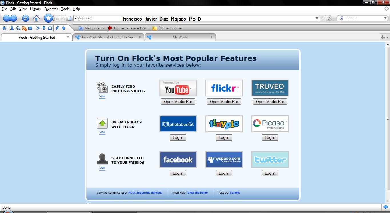 Flock navegador
