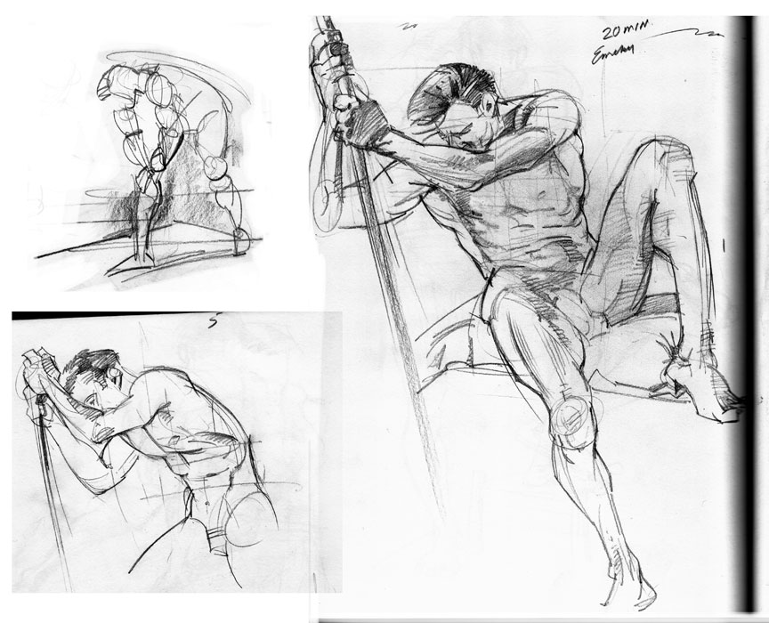Figure Drawing 5 10 Minutes Poses | Male Models Picture