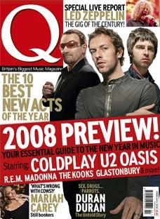 Bono en la portada de la revista Q