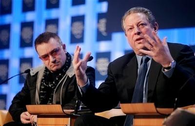 Bono, Al Gore World Economic Forum
