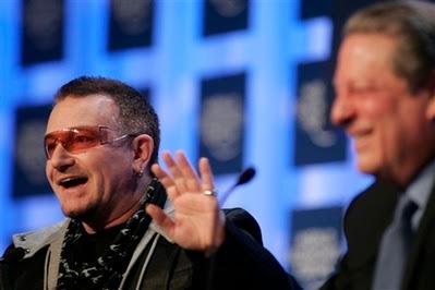Bono y Al Gore conferencia Suiza, Davos
