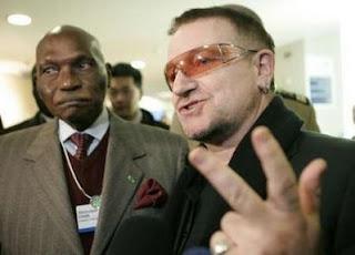Bono y el Presidente de Senegal