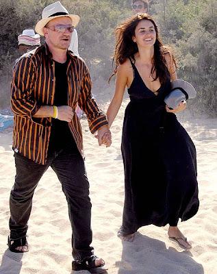 Bono y Penelope Cruz en Francia (Saint Tropez)