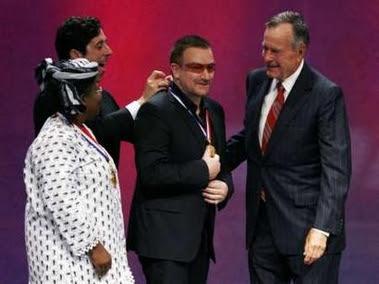 Bono y 2007 Liberty Medal: recibiendo el galardon