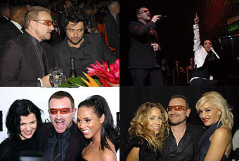 Bono, Sheryl Crow, Gwen Stefani, Alicia Keys, Billie Joe