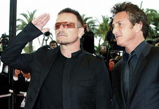 Bono y Sean Penn en el festival de cine de Cannes