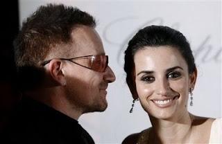 Bono y Penelope Cruz juntos en Cannes 2008