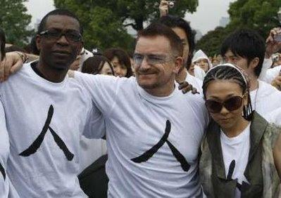 Bono, Misia y Youssou en Japon