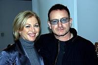 Bono y Liz O'Donnell en la TV RTE