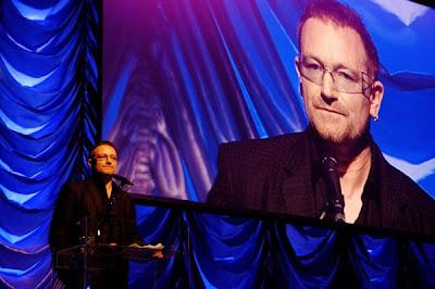 Bono en la Gala de la Raisa Gorbachev Foundation