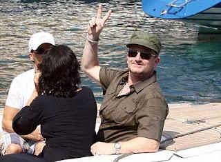 Bono y Ali en Portofino, Italia 1