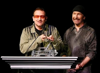 Bono y Edge en Los Angeles 2008