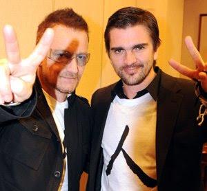 Juanes y Bono en japon