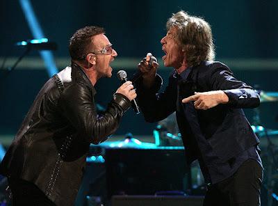 Bono y Mick Jagger