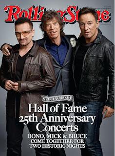 Rolling Stone con Bono, Mick y Bruce
