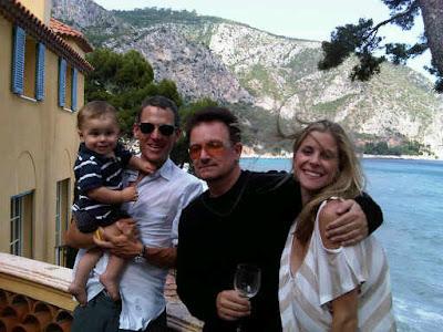 Bono con Lance Armstrong en el Sur de Francia junio 2010