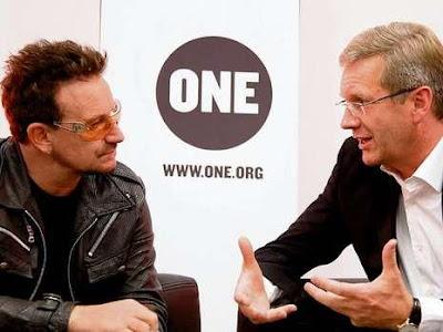 Bono se reune con Christian Wulff