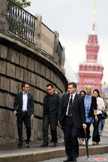 U2 y familiade turismo por Moscu 2