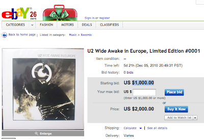U2 Wide Awake in Europe 0001 a la venta en eBay