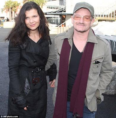Bono y Ali en las carreras de Leopardstown en Dublin