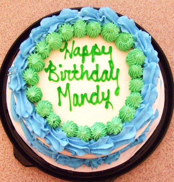 Happy Birthday Cake Mandy