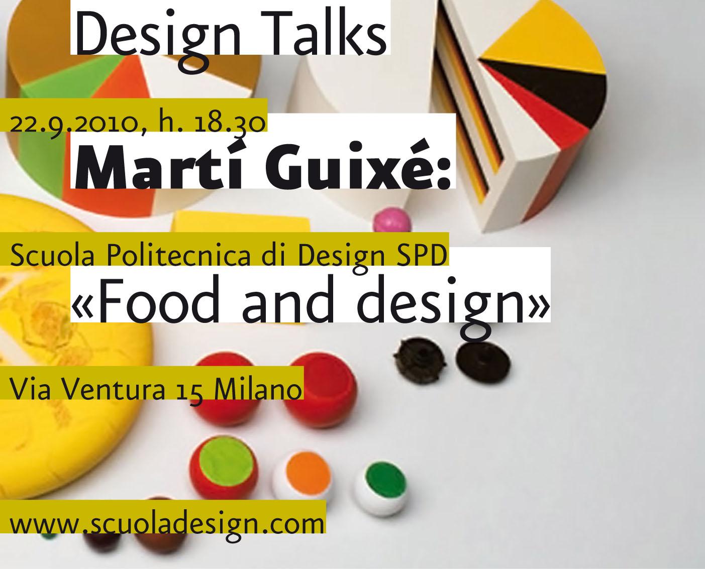 Designer mart guix conferenza scuola politecnica design for Scuola design milano