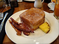 Tonga Toast Kona Cafe The Recipes Of Disney Ingredients: 2 or 4 slices sourdough bread, cut 1 to 1 1/2 inches thick 1 banana 1/3 cup sugar 1 teaspoon cinnamon 1 egg 1/4 cup milk 1/2 teaspoon vanilla