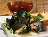 Mussels in Roasted Garlic Cream Sauce Belgium The Recipes Of Disney Ingredients: Roasted Garlic Puree 2 large heads garlic 1 tablespoon olive oil Roasted Garlic Cream Sauce 1 tablespoon olive oil 2 shallots minced 1/2 cup w