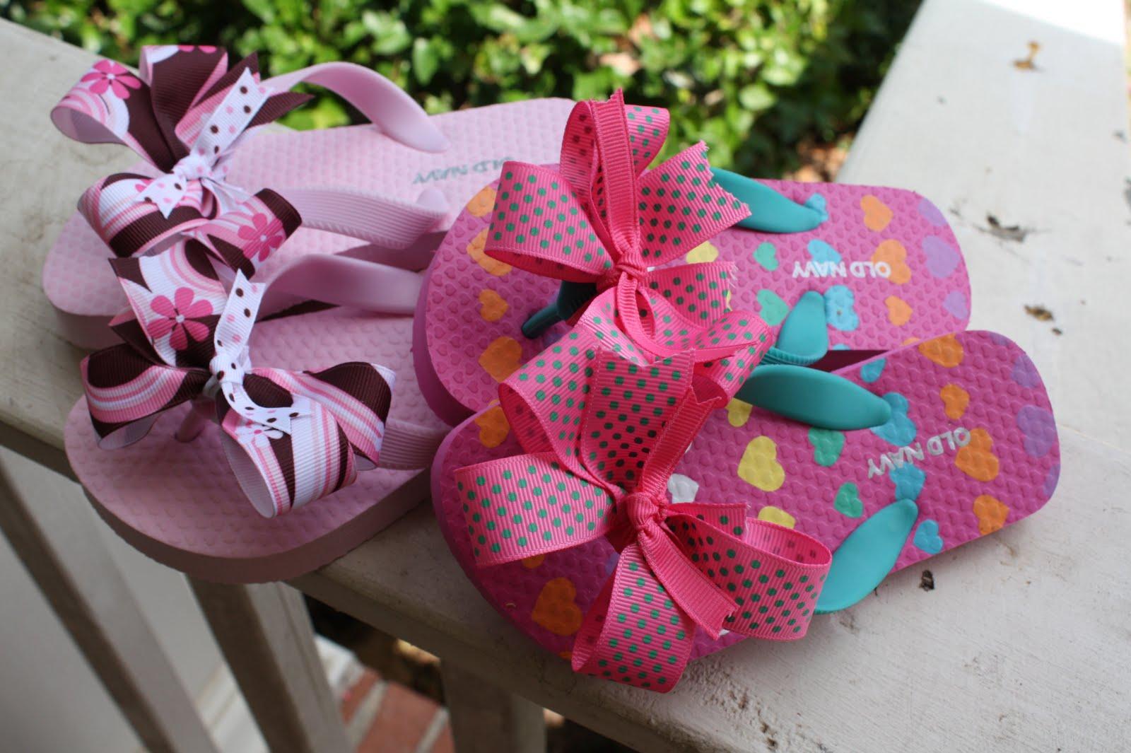 95c78a8c10da3 one pair plain flip flops 2 pieces 7 8 inch grossgrain ribbon cut to 20  inches 2 pieces 3 8 inch grossgrain ribbon in coordinating colors cut to 13  inches