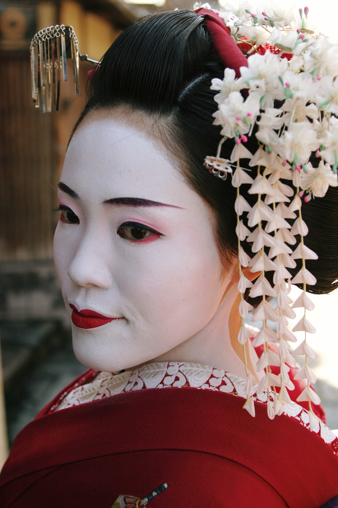 geisha maquillaje