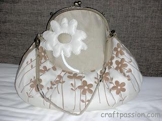 flower gamaguchi purse