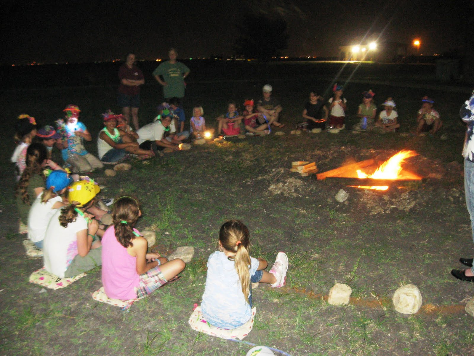 Girl Scouts Troop Learning About Camp Fire Safety