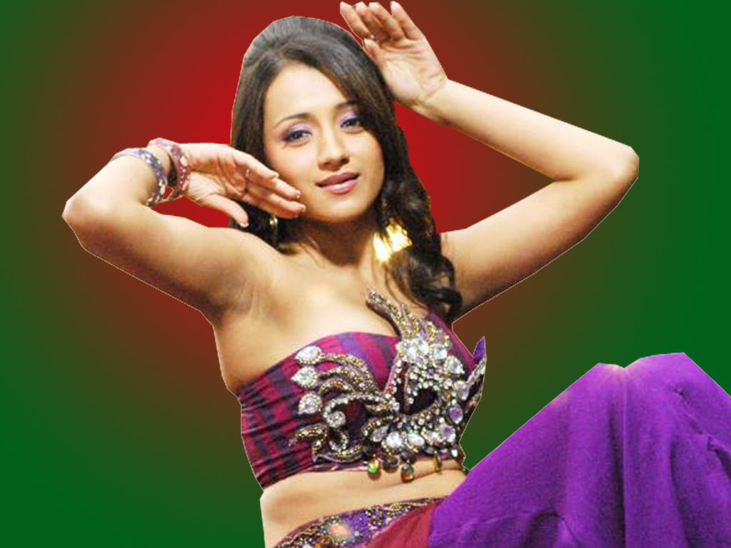Tamil Hot Actress Trisha Cleavage Wallpapers  Tamil Wall-2361