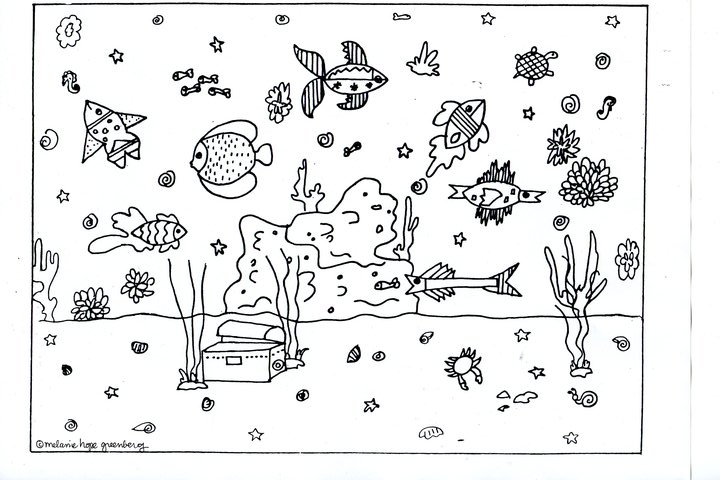 ocean bottom coloring pages - photo #9
