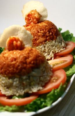 Mochachocolata Rita Nasi Goreng Merah Putih Red Spicy Shrimp White Chicken Fried Rice