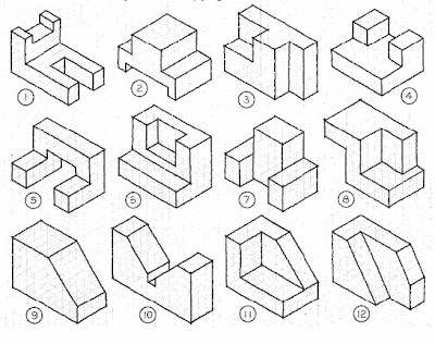 Pin Basic Isometric Drawing Exercises Cake on Pinterest