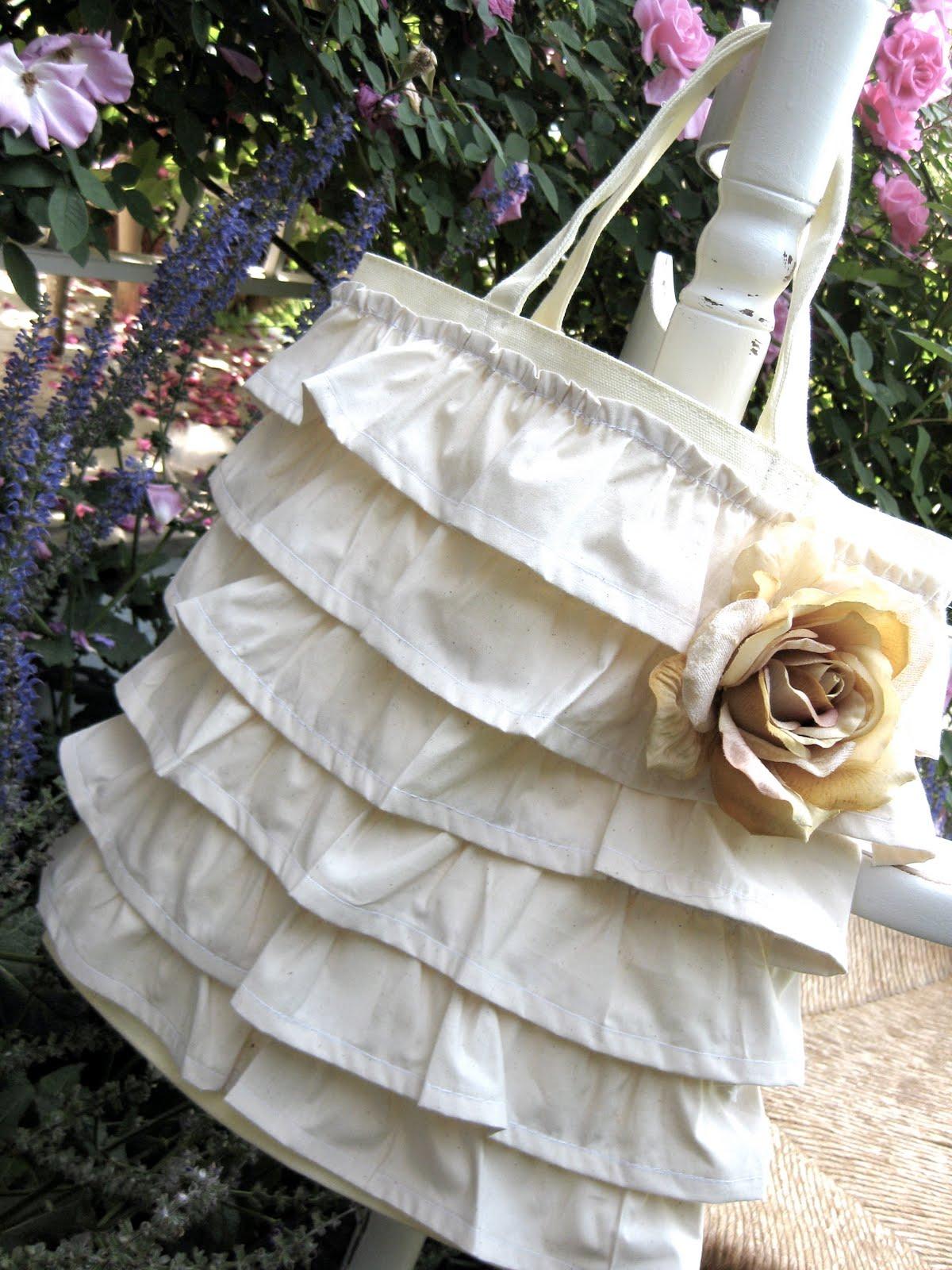 My Pink Life Ruffled Tote Bag