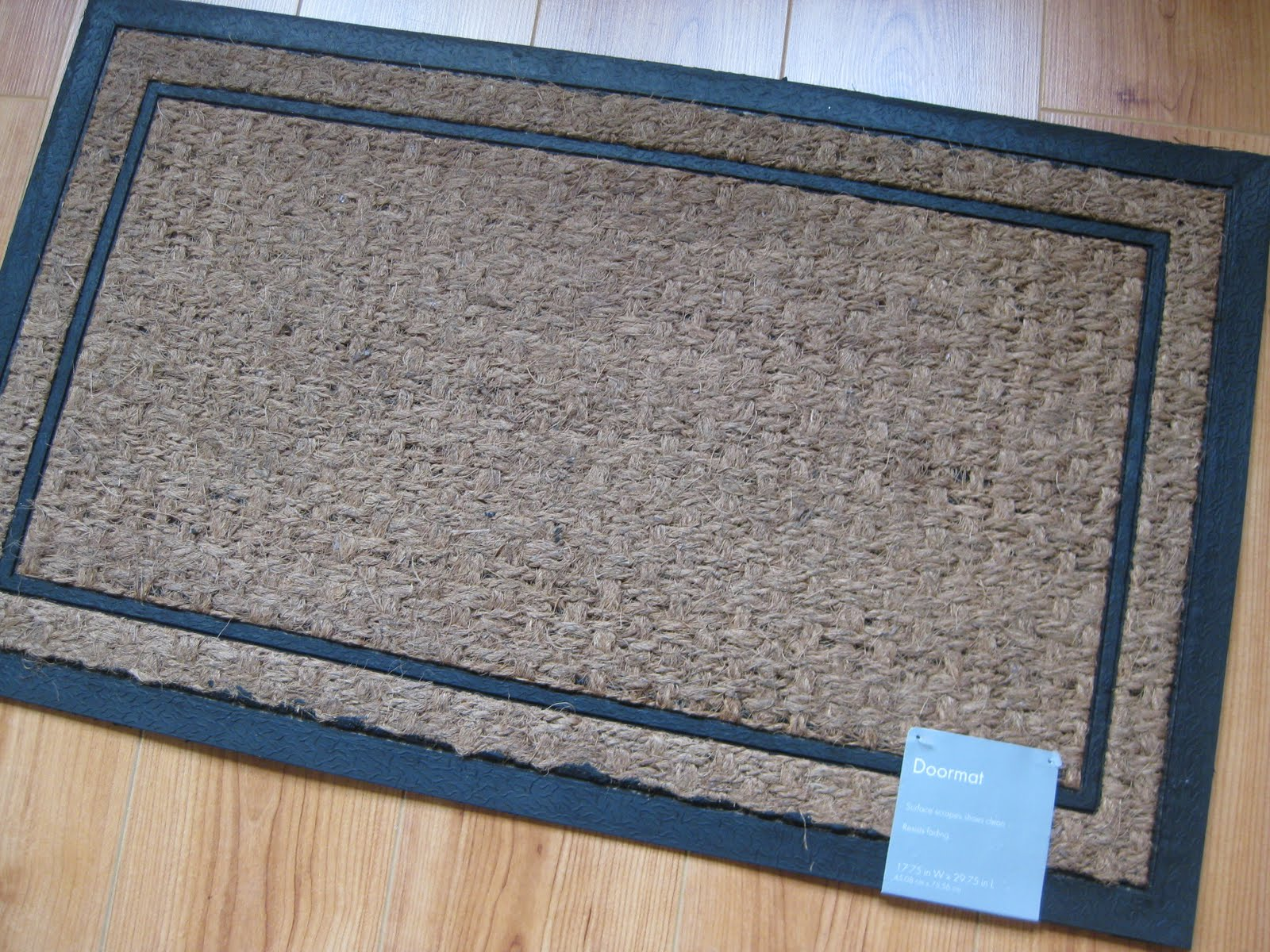 my pink life simple doormat project. Black Bedroom Furniture Sets. Home Design Ideas