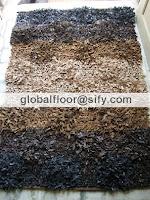 leather designer shaggy rugs india