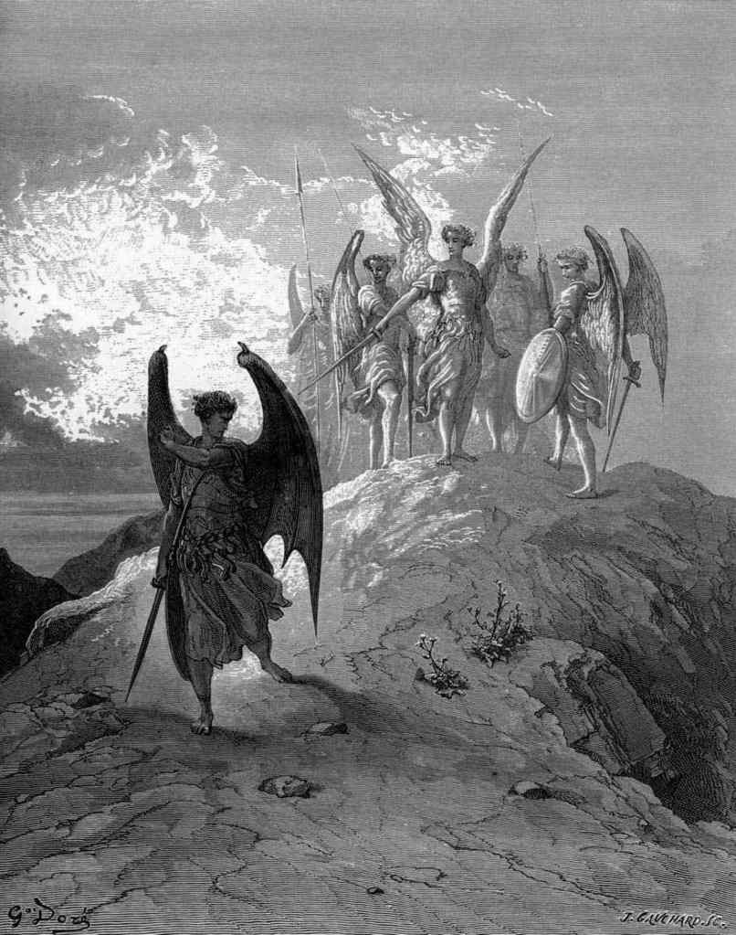 What are the differences and similarities between Satan and Beelzebub in Paradise Lost?