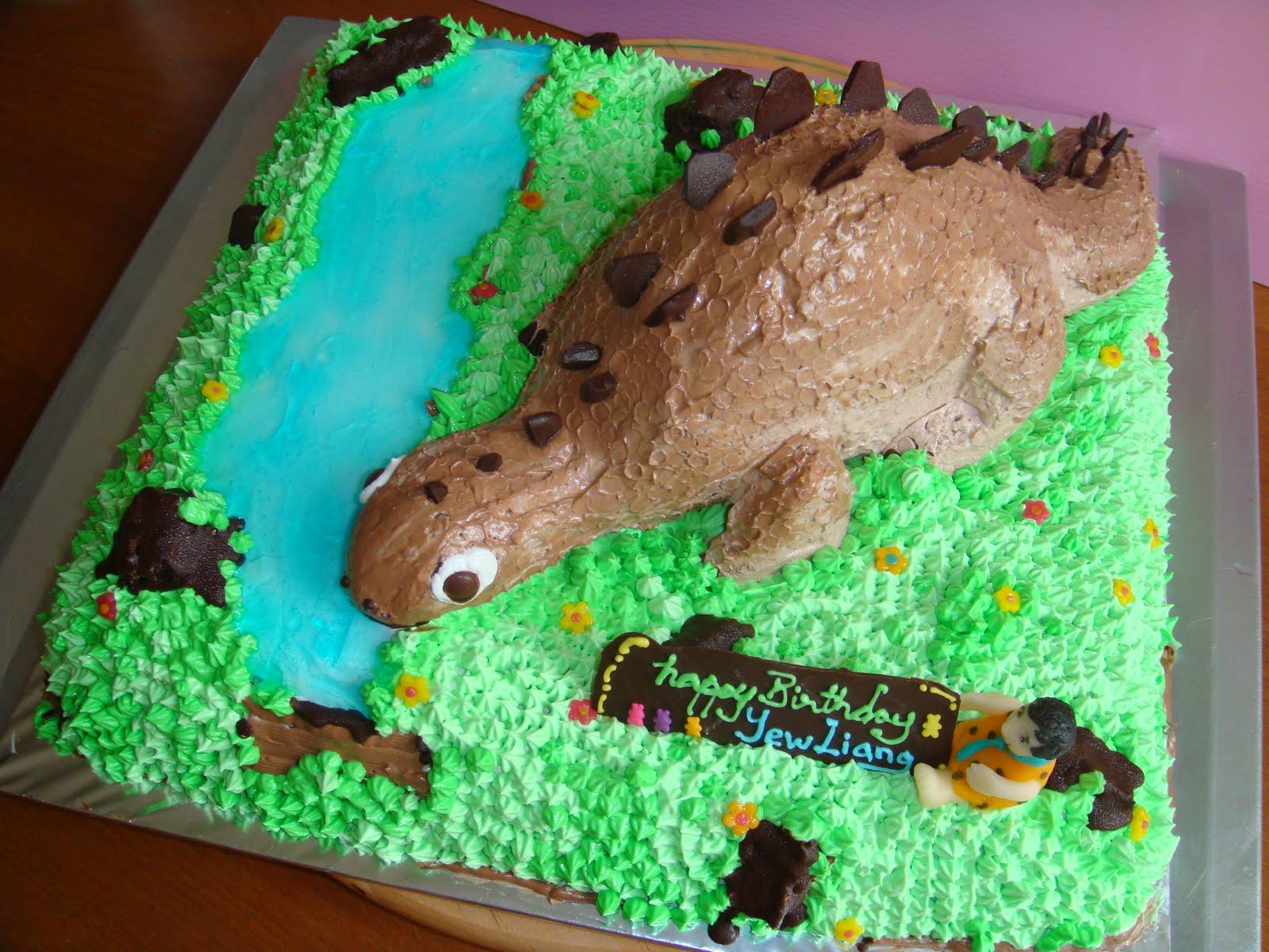 Yummy Baking 3d Dinosaur Brithday Cake