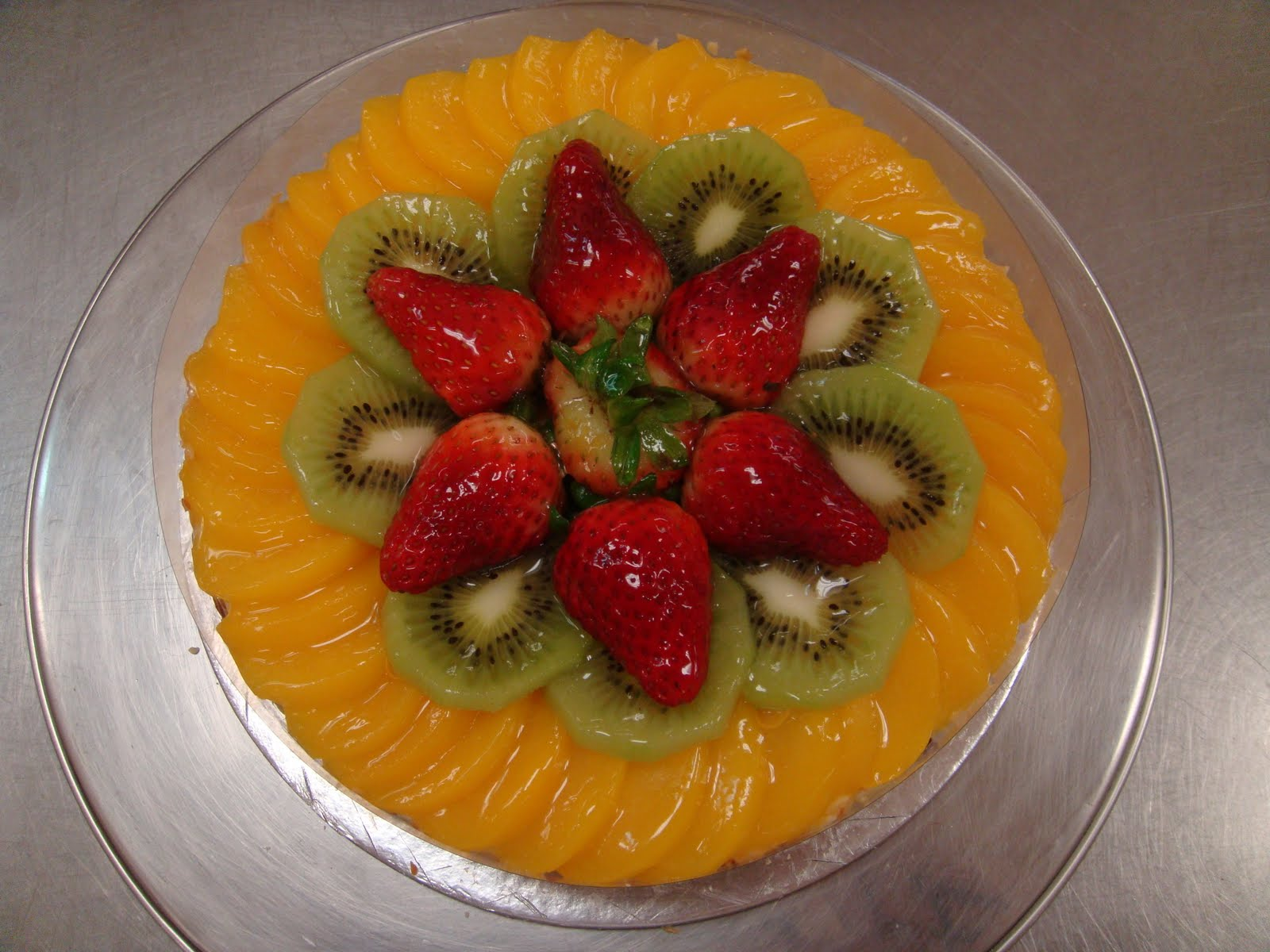 Yummy Baking Fruit Flan Cake