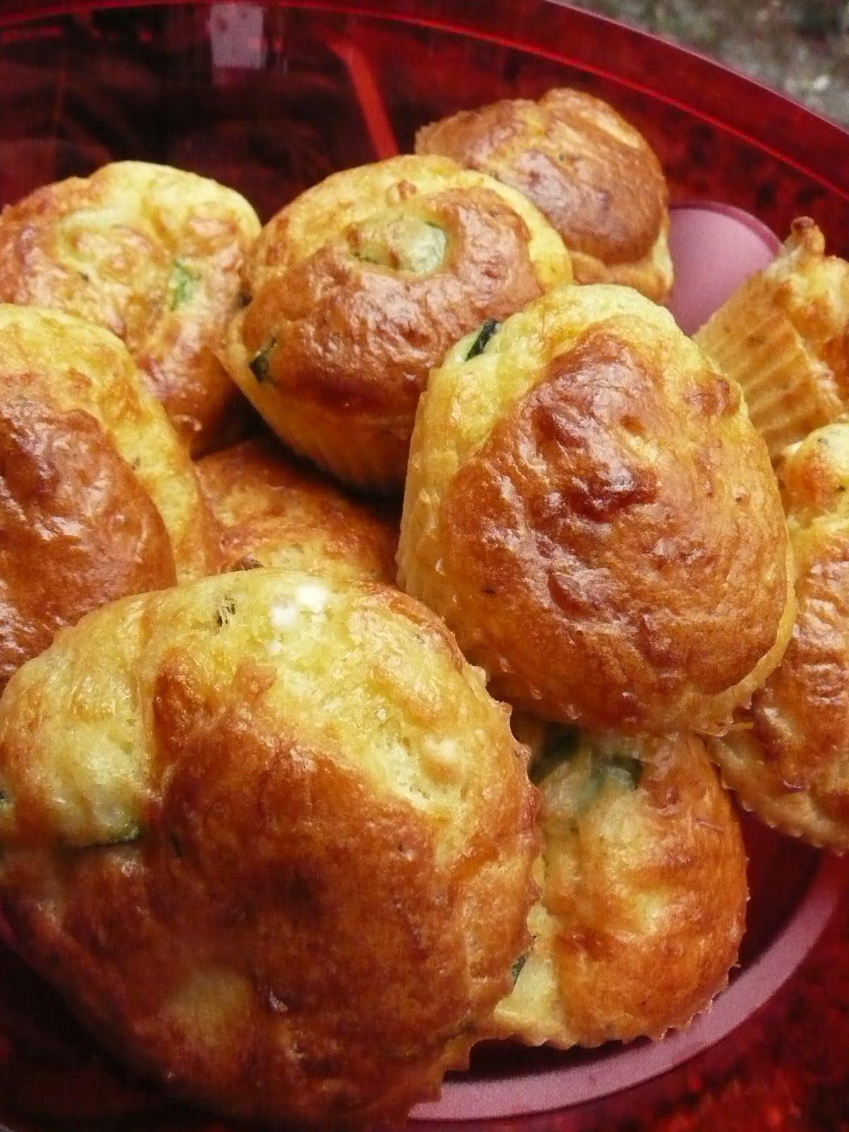 Mini Cake Courgette Feta