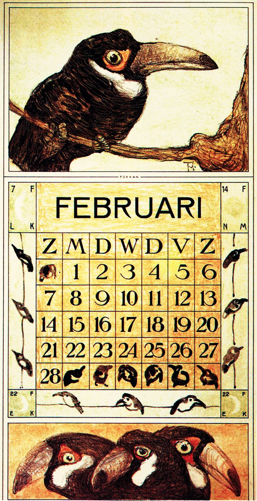 Calendario 1915.Japonisme A Man For All Seasons 1915