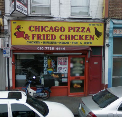 Uk Food Takeaways Chicago Pizza And Fried Chicken Takeaway