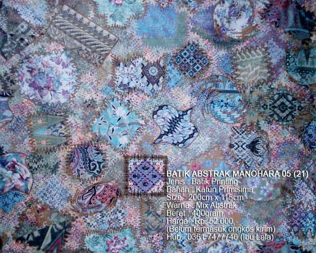 Indonesian Abstrak Batik: Batik Bali Indonesia: (21) BATIK ABSTRAK MANOHARA 05