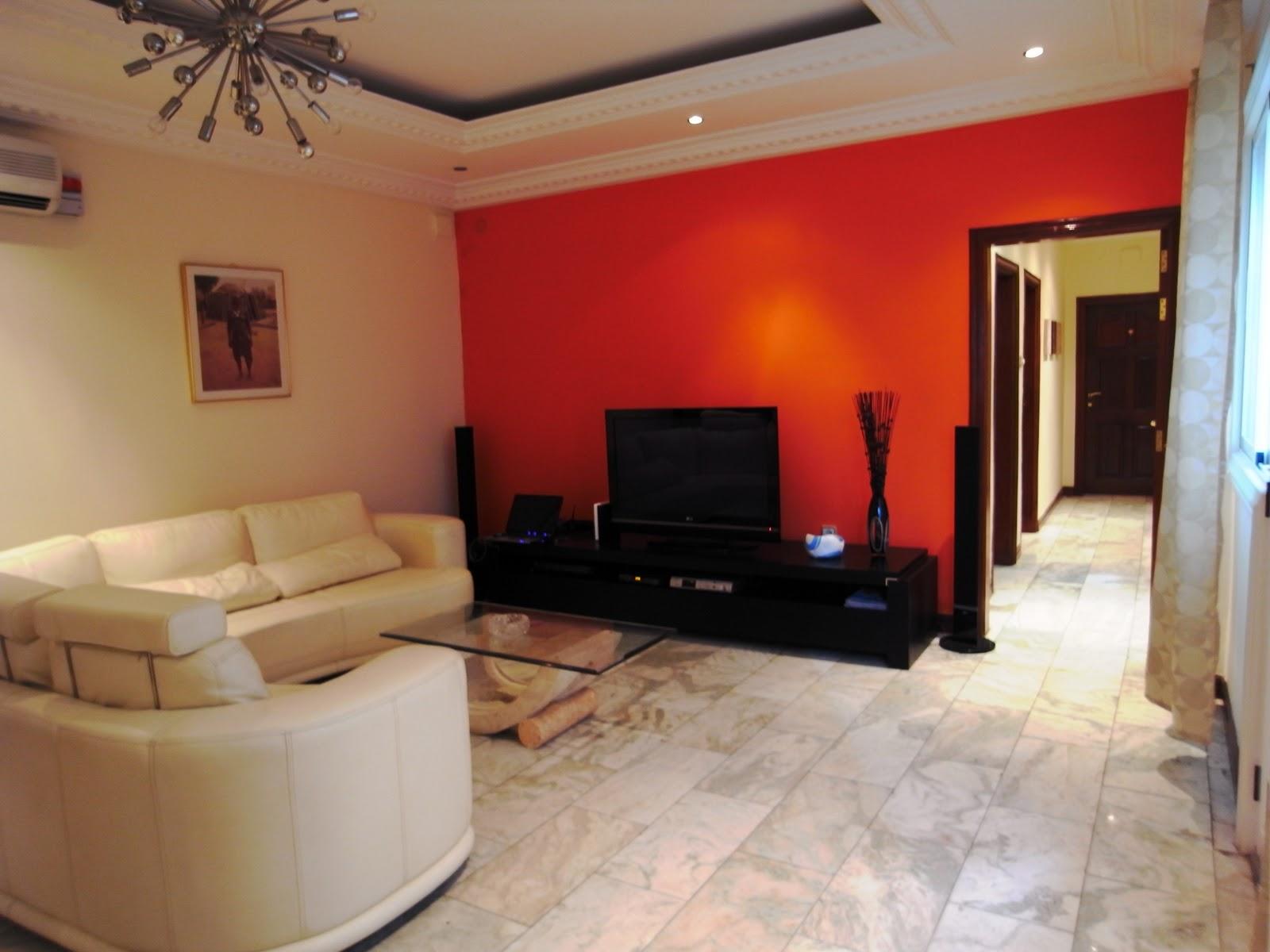 Peinture Blanc Orange Salon | Couleur Peinture Salon Taupe Free ...
