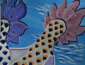 Finfare by Jean Nelson, Acrylic