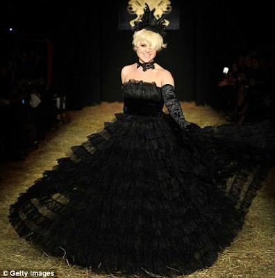 kelly osbourne black wedding dress